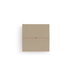 Closed isometric box top view paper parcel vector