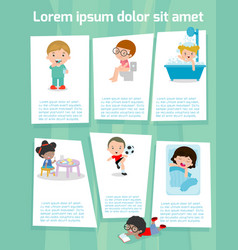 daily routine of child vector image