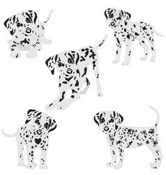 Dalmatians cute sad vector image