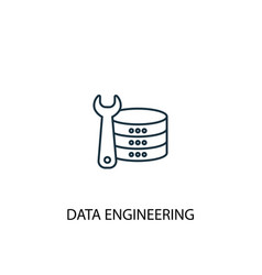 data engineering concept line icon simple element vector image
