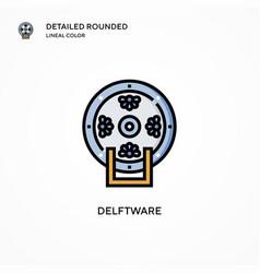 Delftware icon modern vector