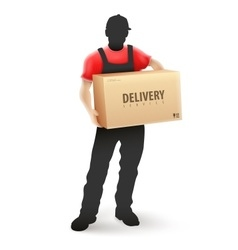 Delivery service man postman vector image