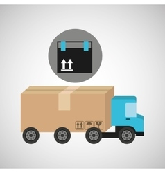 Delivery truck concept cargo package vector