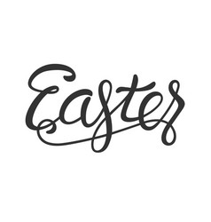 easter lettering black isolated on white vector image
