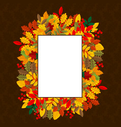 Elegant and beautiful autumn leaves and elements vector