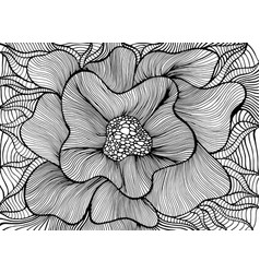 fantasy artistic beautiful flower coloring page vector image
