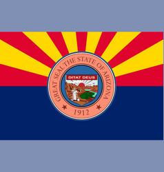Flag arizona united states vector