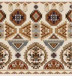 Folk ornamental seamless pattern geometric ethnic vector
