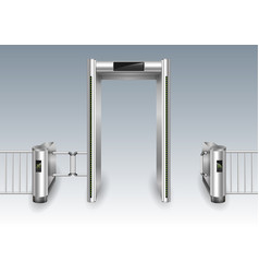 Frame metal detector portal vector