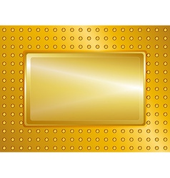 Gold sign and background vector image