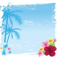 grunge tropical banner vector image