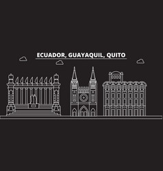 guayaquil silhouette skyline ecuador - guayaquil vector image