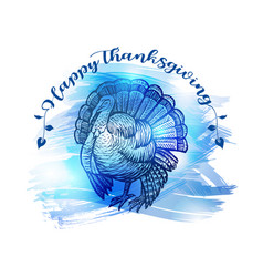 hand drawn sketch turkey natural turkey vector image