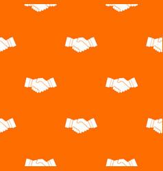 handshake pattern seamless vector image vector image