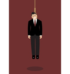 Hanged businessman vector