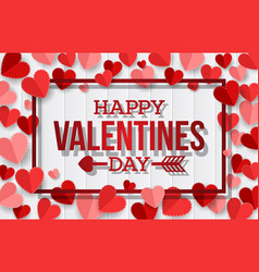 Happy valentine day background vector