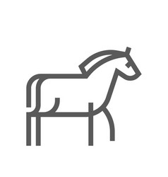 horse farm animal line icon 48x48 pixels vector image