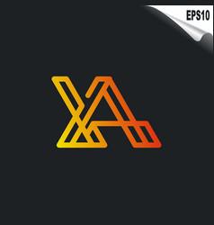 Initial xa logo monogram design template simple vector