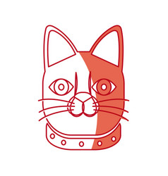 japanese face cat neko doll lucky vector image