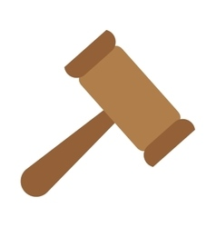 Law gavel icon vector