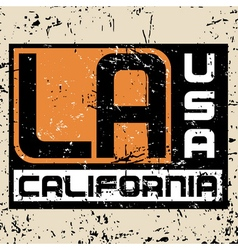Los Angeles city Typography Graphic Grunge 3 vector
