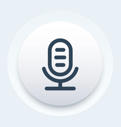 Microphone icon linear style vector
