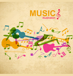 music design concept vector image