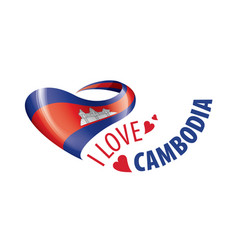 National flag cambodia in shape a vector