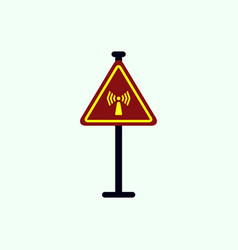 Network badge road sign wifi traffic symbol vector