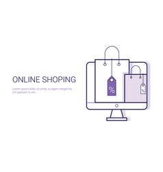 online shopping mobile payment ecommerce business vector image