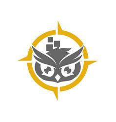 Owl application logo design template isolated vector