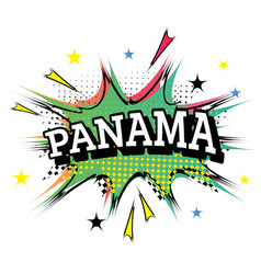 panama comic text in pop art style vector image