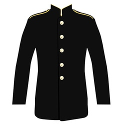 Police uniform jacket vector