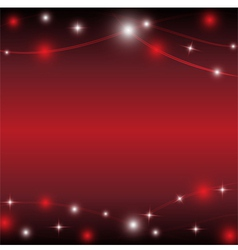 red background with light star vector image