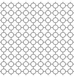 Round simple seamless pattern vector image