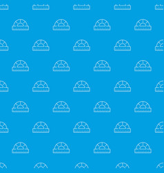 ruler pattern seamless blue vector image