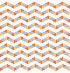 seamless colorful abstract zig-zag pattern vector image