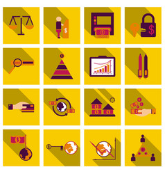 Set of business simple icons economic concept in vector