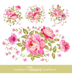 Set of wreath vector image