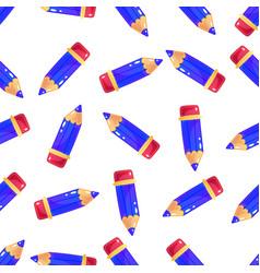 Simple little cartoon pencil background seamless vector