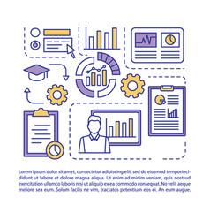 Statistics course article page templatemetrics vector