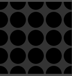tile pattern with black dots on grey background vector image