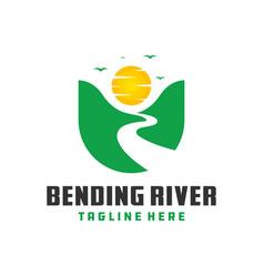 travel to mountain logo vector image