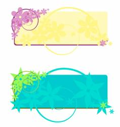two flower banners vector image