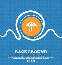 Umbrella icon sign Blue and white abstract vector image