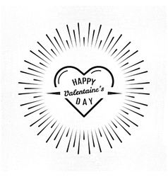 Valentines day and typography vector image
