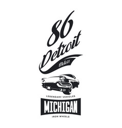 Vintage american vehicle t-shirt logo vector