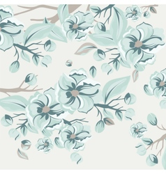 Watercolor Spring Flowers Background vector