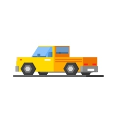 Yellow Car Icon vector image