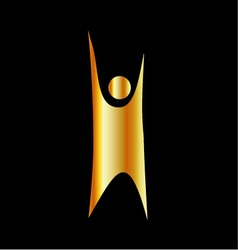 Golden symbol of Humanism vector image vector image